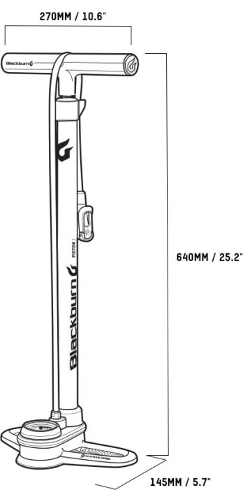 BLACKBURN Piston 1 matte black/white nožní pumpa