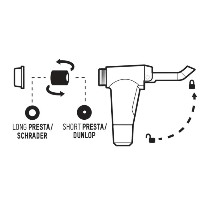 BLACKBURN Piston 2 matte black/cyan nožní pumpa