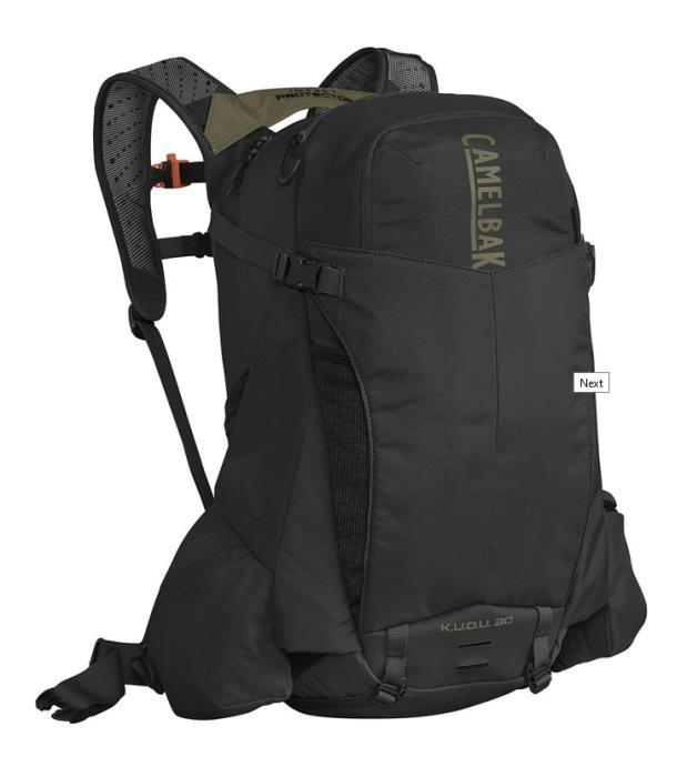 CAMELBAK Kudu Transalp Protector 30 Black/Burnt Olive batoh s chráničem páteře M/L