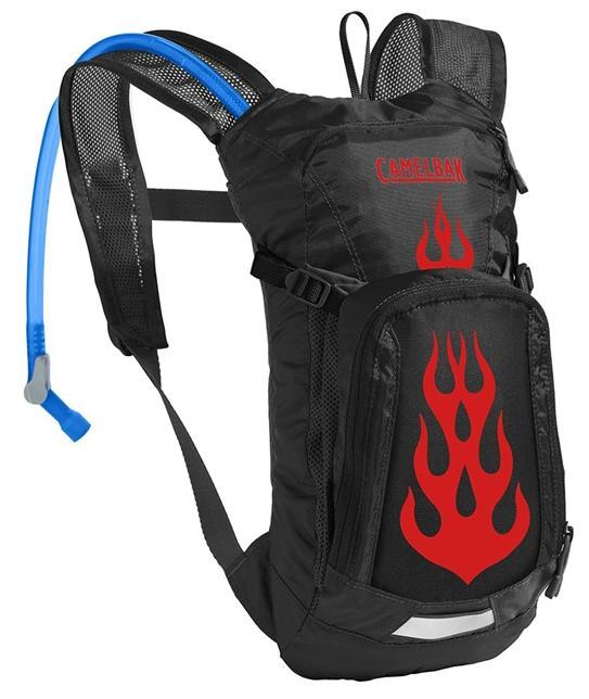 CAMELBAK Mini Mule dětský batoh s pitným vakem black/flames