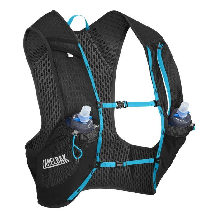 CAMELBAK Nano Vest běžecká vesta s lahvemi black/atomic blue M 2l