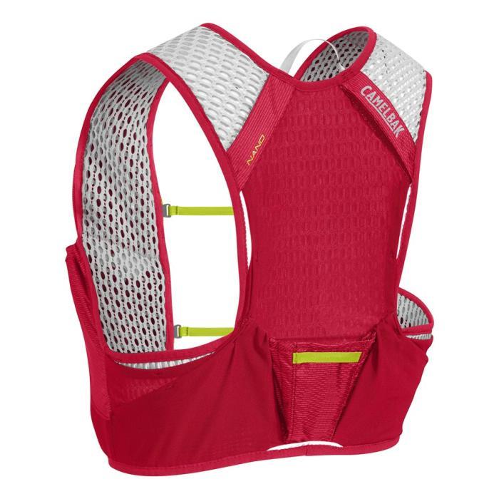 CAMELBAK Nano Vest běžecká vesta s lahvemi red/lime punch L 2l