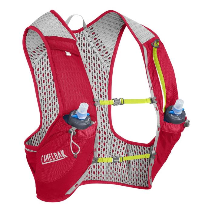 CAMELBAK Nano Vest běžecká vesta s lahvemi red/lime punch S 2l