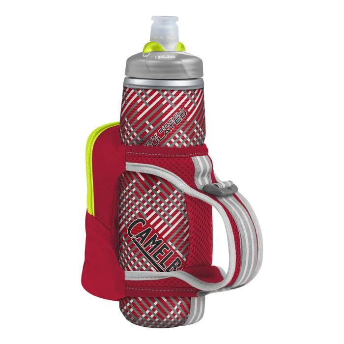 CAMELBAK Quick Grip Chill 0,6 l termoláhev + obal crimson red/lime punch