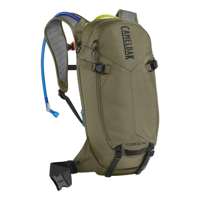 CAMELBAK TORO Protector 14 batoh s chráničem páteře burnt olive/lime punch