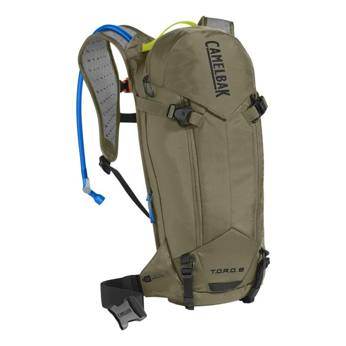 CAMELBAK TORO Protector 8 batoh s chráničem páteře burnt olive/lime punch