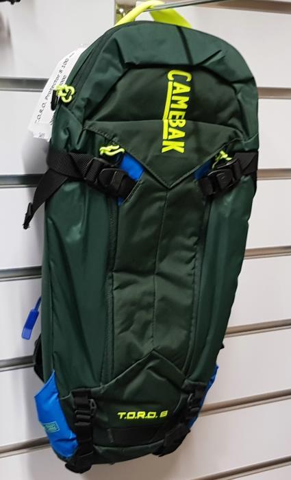 CAMELBAK TORO Protector 8 batoh s chráničem páteře deep forest/brilliant blue