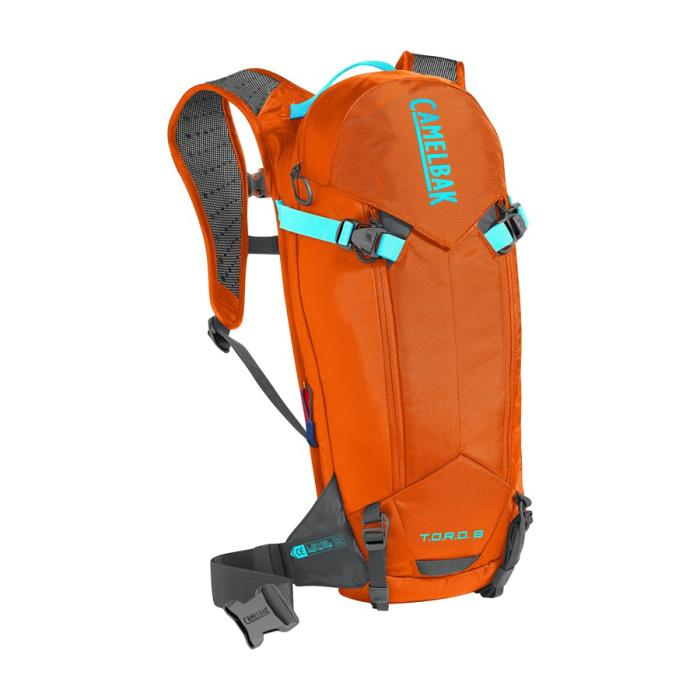 CAMELBAK TORO Protector 8 batoh s chráničem páteře red orange/charcoal