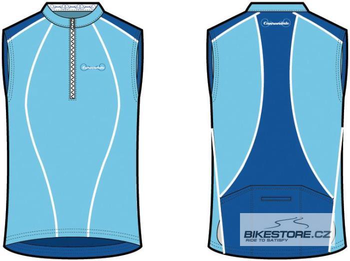 CANNONDALE Classic dámský cyklistický dres - bez rukávu Velikost S, modrá barva