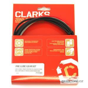 CLARKS Pre Lube MTB, hybrid/Road řadící kabelový set