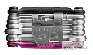CRANKBROTHERS Multi-17 black/pink kapesní nářadí (multiklíč)