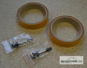DT SWISS Sada 2 ks ventilků a těsnících pásků pro bezdušové ráfky