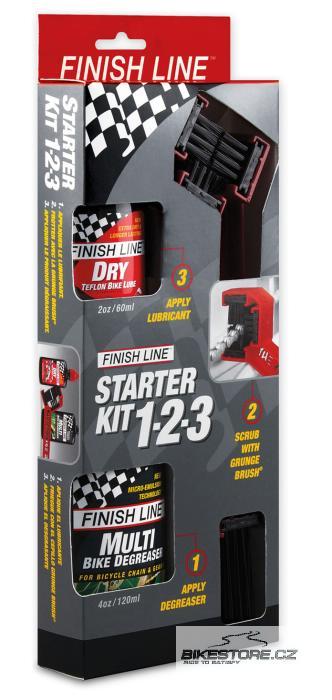 FINISH LINE Grunge Brush Starter Kit sada čistícího kartáče a čistícího a mazacího prostředku