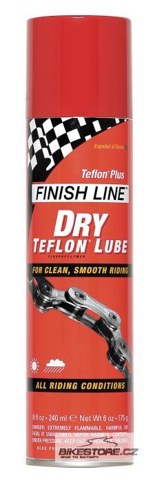 FINISH LINE Teflon Plus Dry Spray mazací prostředek Objem 235 ml, sprej