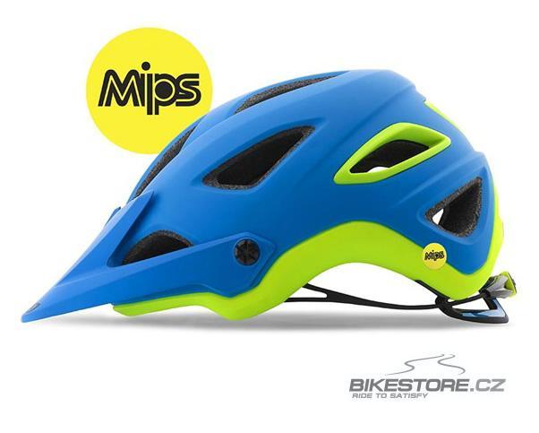 GIRO Montaro MIPS mat blue/lime helma M
