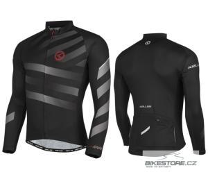 KELLYS Rival Grey cyklistický dres - dlouhý rukáv
