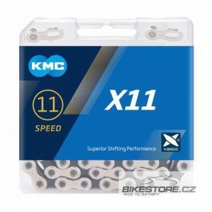 KMC X11 silver/black řetěz
