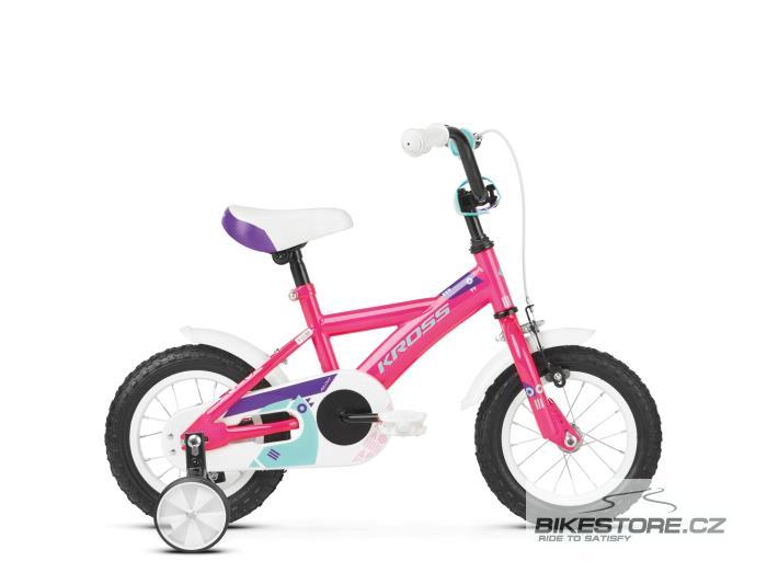 KROSS Mini 1.0 12 pink/violet/turquoise glossy dětské kolo