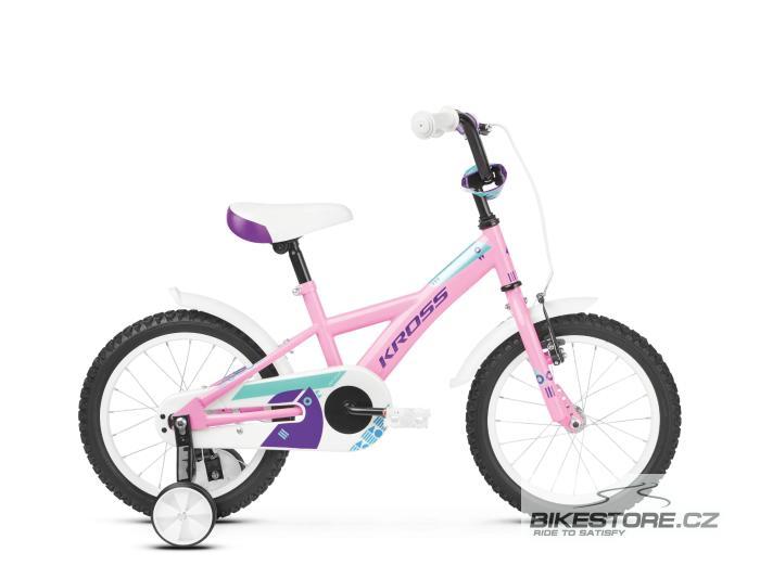 KROSS Mini 3.0 16 pink/violet/turquoise glossy dětské kolo 2019