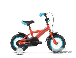 KROSS Racer 1.0 12 orange/turquoise/blue glossy dětské kolo