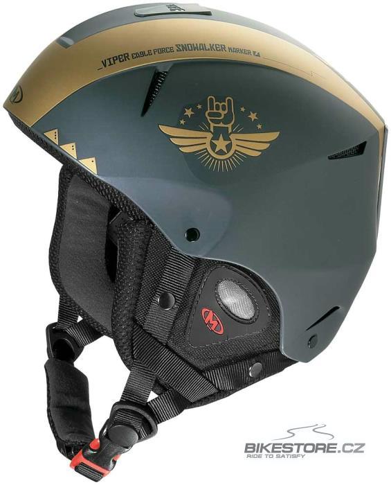 MARKER Viper lyžařská helma Černá/zlatá barva, velikost XL (62)