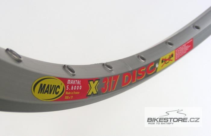 MAVIC X 317 Disc ráfek 36 děr, stříbrná barva