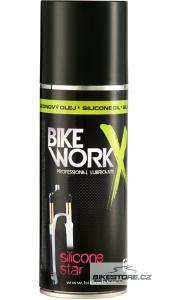 NACHÁZEL/BIKEWORKX Silicone Star silikonový olej na vidlice a tlumiče Objem 200 ml, sprej
