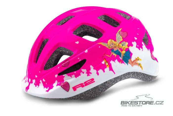 R2 Bunny dětská helma (ATH28B/XS) XS, lesklá růžová/bílábarva