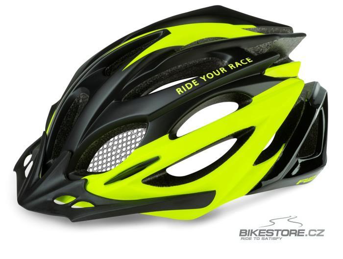 R2 Pro-Tec helma M, Black/neon yellow