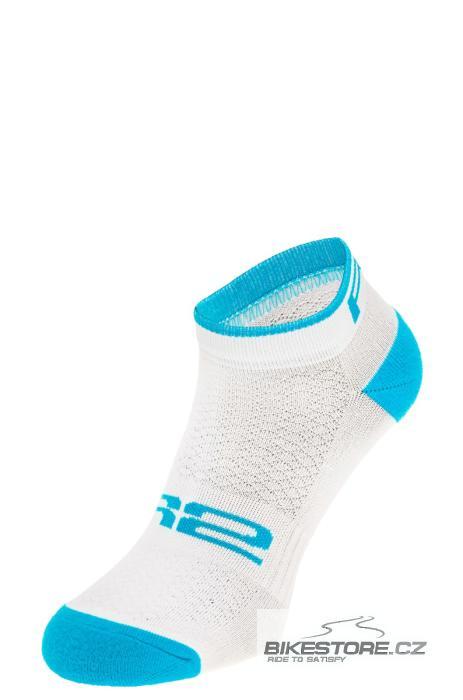 R2 Tour ponožky (ATS08A/S) velikost S /35-38/, bílá/tyrkysová