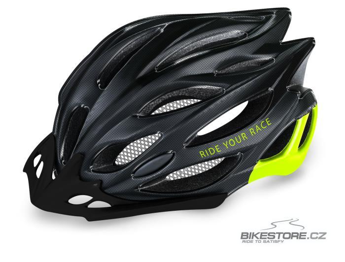 R2 Wind Carbon Black/Neon Yellow helma M