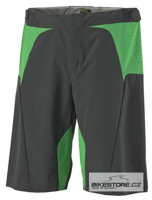 SCOTT AMT cyklistické kalhoty - volné krátké (228110) Velikost M, šedá/zelená barva