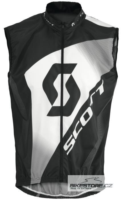 SCOTT Authentic Windbreaker cyklistická vesta (228104) Velikost S, černá barva
