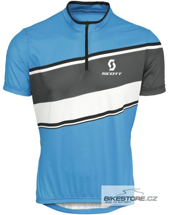 SCOTT Classic cyklistický dres - krátký rukáv (228075) Velikost M, modrá barva