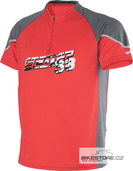 SCOTT Entry Top dres - krátký rukáv (209413) Velikost S, oranžová barva