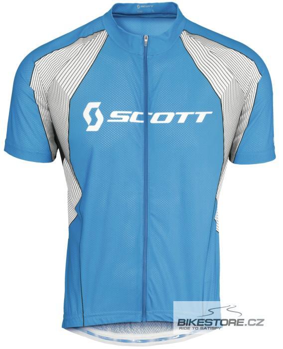 SCOTT Helium Pro cyklistický dres - krátký rukáv (228070) Velikost M, modrá barva