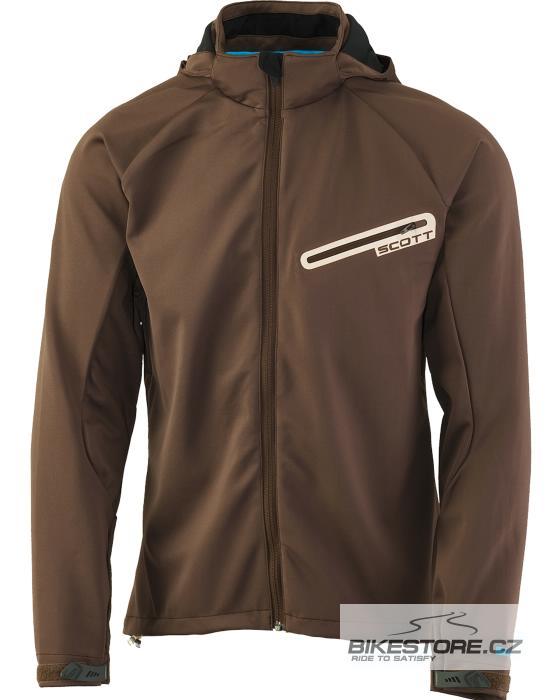 SCOTT Limited Soft Shell bunda Velikost M, hnědá barva