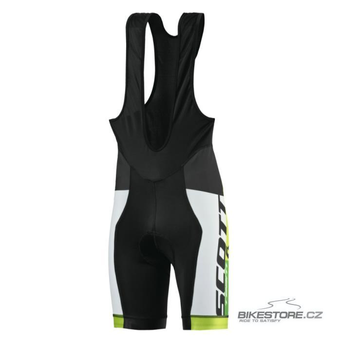 SCOTT RC Team cyklistické kalhoty - krátké s laclem (238707) Velikost XXL, černá/zelená barva