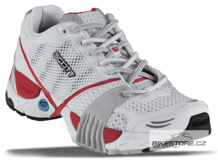SCOTT Ride Red běžecké boty (204692) - 2.JAKOST VIZ POPIS Velikost 40,5 (7,5 US), bílá/stříbrná/červená barva