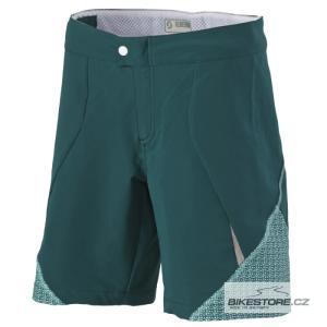 SCOTT Shadow petrol green/aqua blue dámské cyklistické kalhoty - krátké volné (233823)