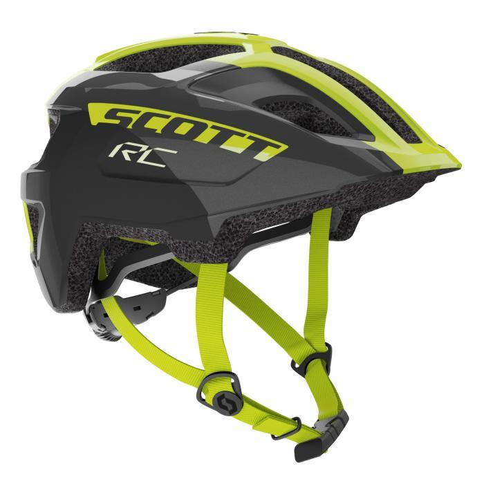 SCOTT Spunto Junior Plus dětská helma (275229) black/radium yellow RC