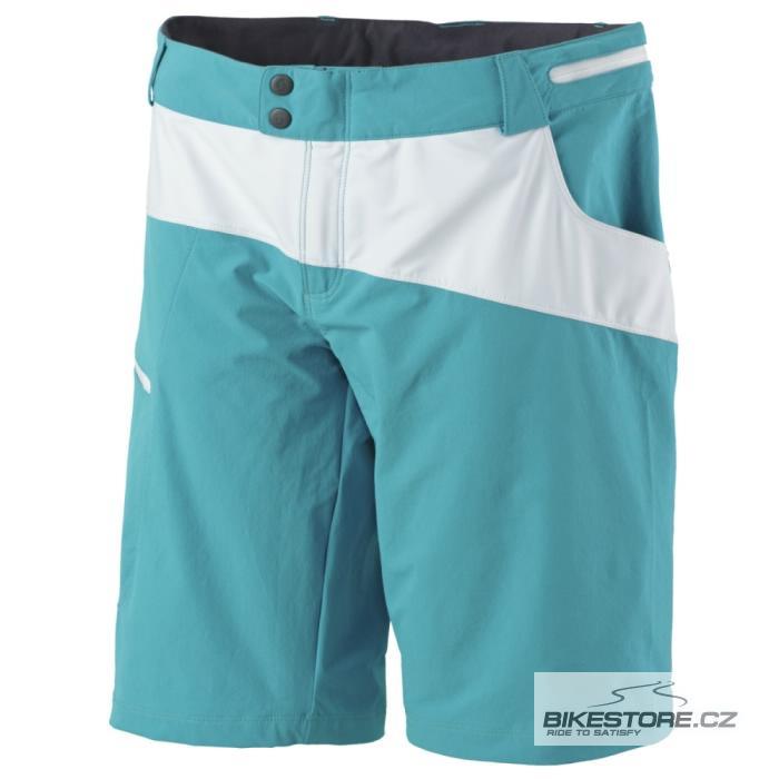SCOTT Trail 10  dámské kalhoty - volné krátké (238813) Velikost M, tyrkysová/bílá barva