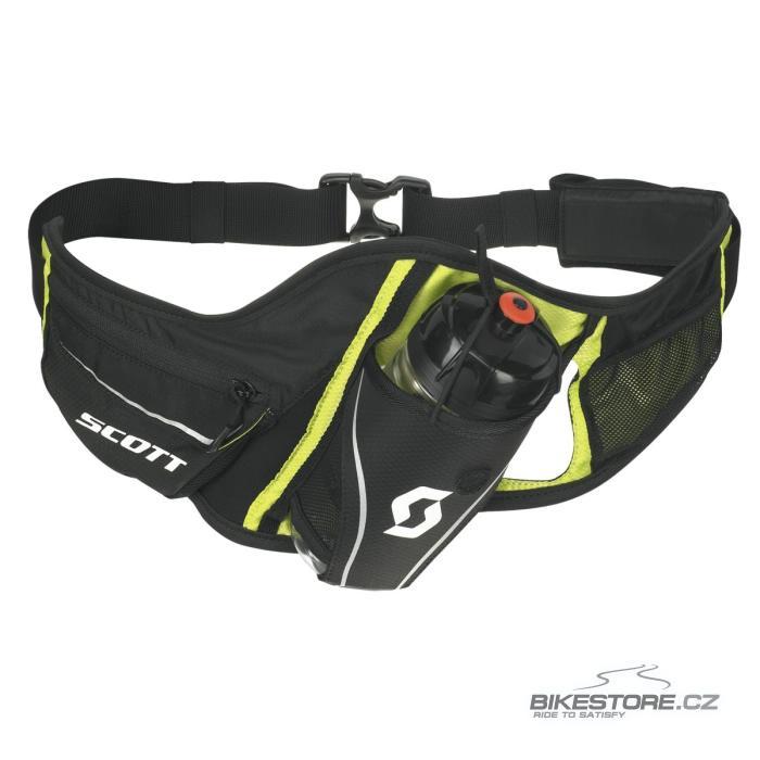 SCOTT Trail T-Belt ledvinka s lahví Černá/limetková barva