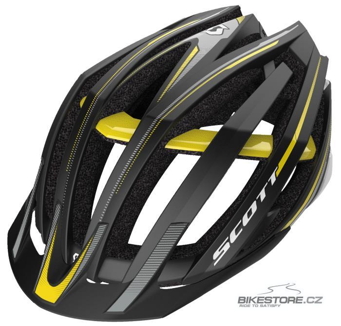 SCOTT Vanish Evo MTB helma (230120) Velikost L (59-61 cm), černá/žlutá barva