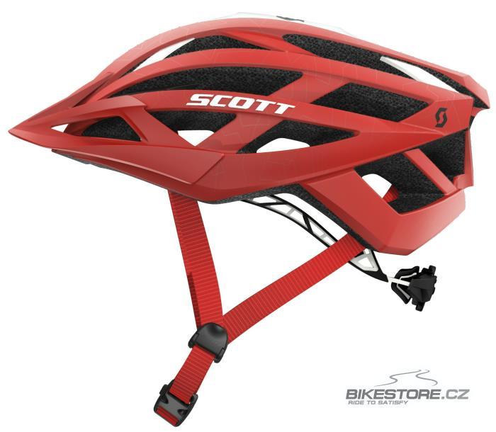 SCOTT Wit red helma (230148) S