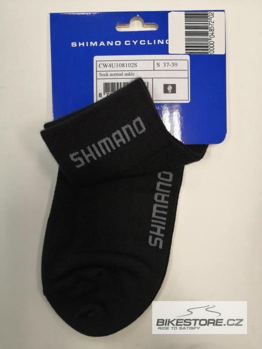 SHIMANO Normal ponožky Černá barva, velikost S