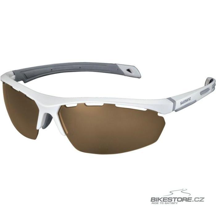 SHIMANO S40x brýle  bílá metalíza, hnědá čirá skla