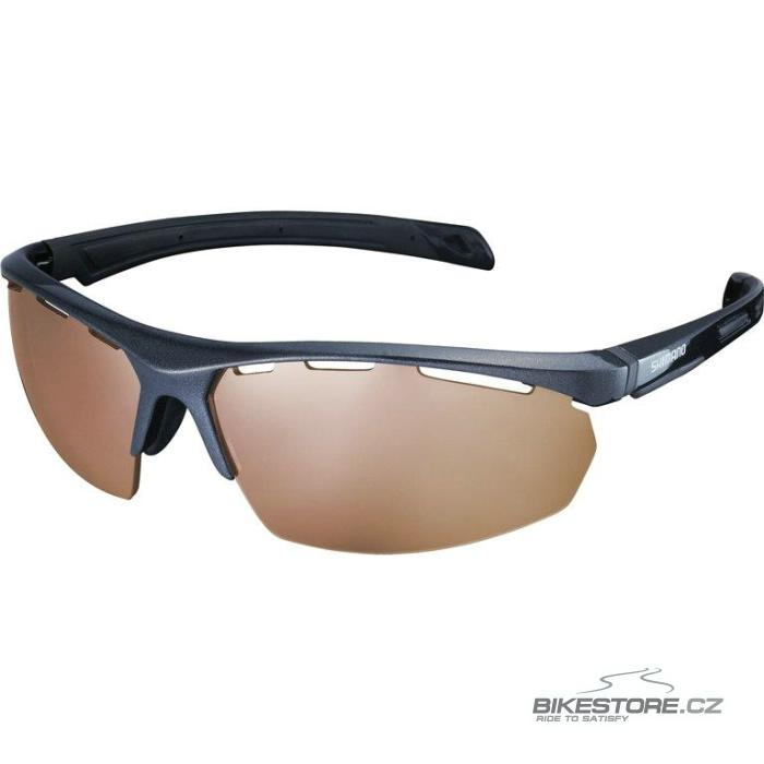 SHIMANO S40x brýle  černá metalíza, hnědá čirá skla