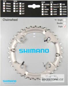 SHIMANO Y1J898080 (FC-M532) střední převodník (36z)