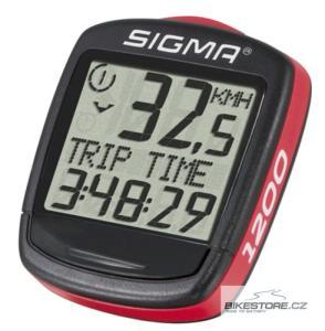 SIGMA SPORT Baseline BC 1200 Wired Red (drátový) cyklocomputer (01950)